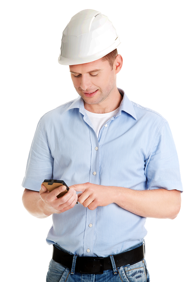 contractor-on-phone