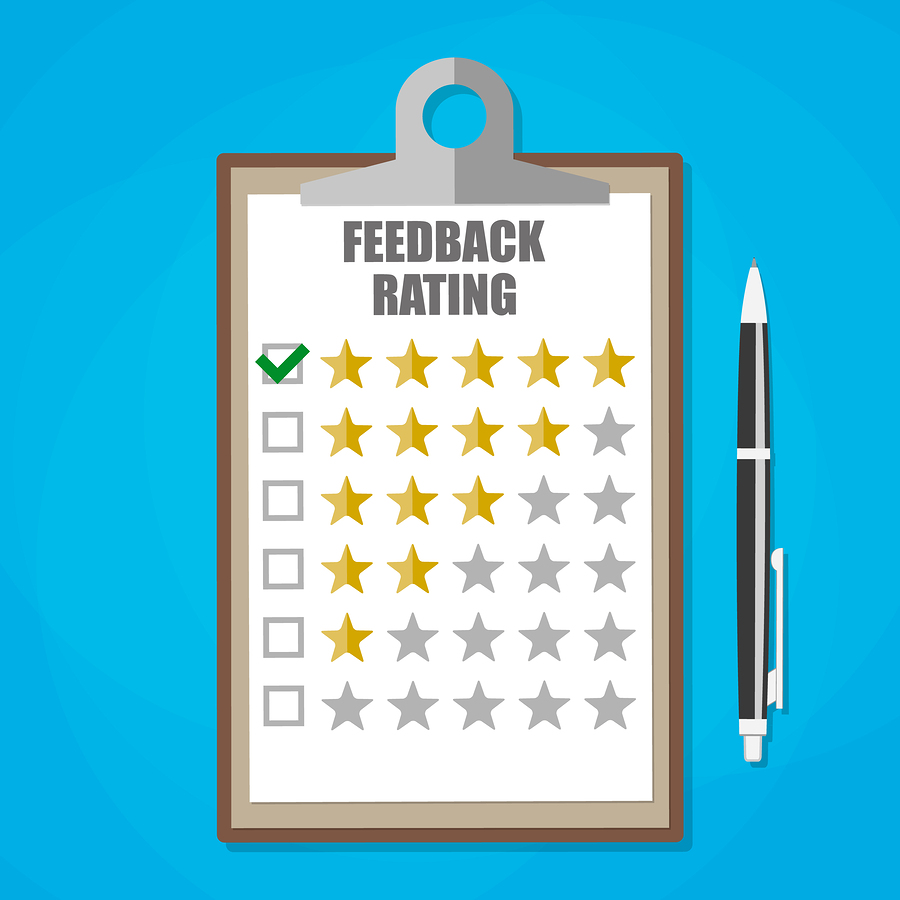 Contractor Clipboard with Reviews and ratings